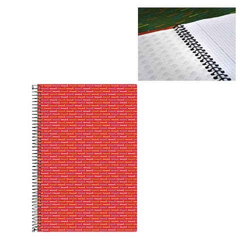 Spirálfüzet A5 kockás 140 lap 70g LIDERPAPEL 3290