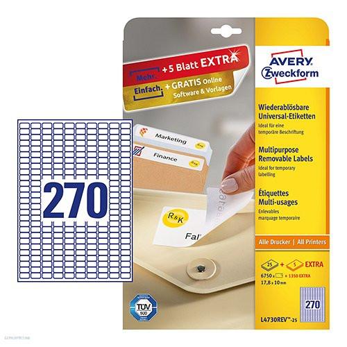 Etikett címke speciális etikett L4730REV-25 visszaszedhető 17,8 x 10 mm