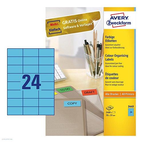 Etikett címke speciális 3448 70 x 37 mm Avery