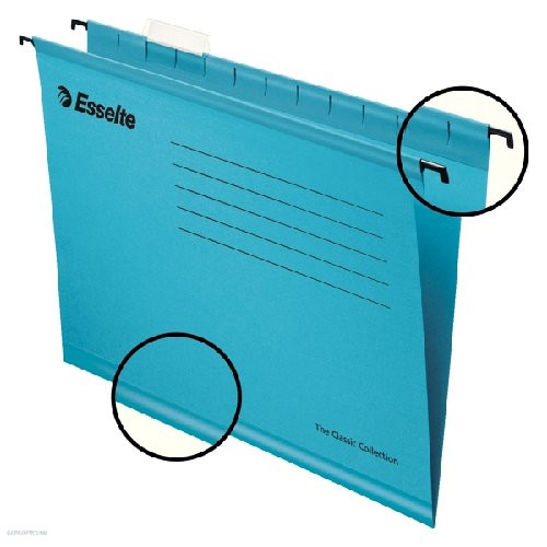 Függő irattartó A/4 Esselte Classic 90311(kék)
