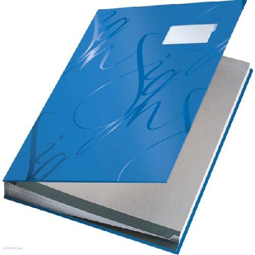 Aláírókönyv A/4 Leitz 18 részes 57450035 (kék)