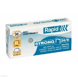 Fűzőkapocs RAPID STRONG 24/6 horganyzott, 1000db/doboz 24855800