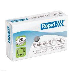 Fűzőkapocs RAPID STANDARD 26/6 horganyzott, 1000db/doboz 24861300