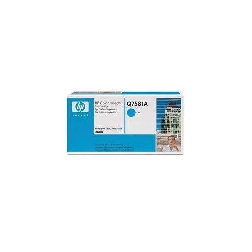 HP lézertoner Q7581A No.503A kék 6000 old