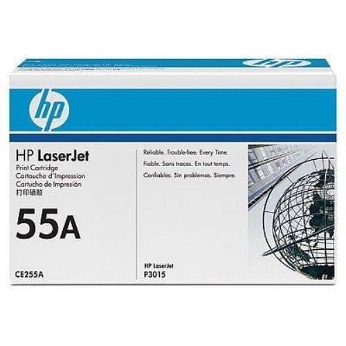 HP lézertoner CE255A No.55A fekete 6000 old.