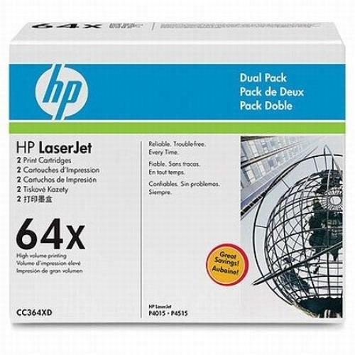HP lézertoner CC364XD No.64XD fekete 2x24000 old.