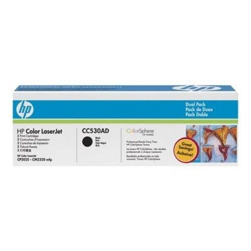 HP lézertoner CC530AD No.304AD fekete 2x3500 old.