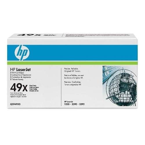 HP lézertoner Q5949XD No.49XD fekete 2x6000 old.