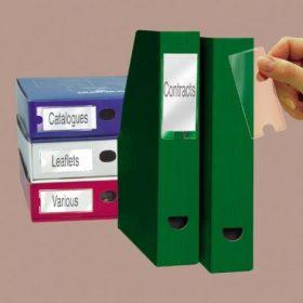 Iratrendező címkék, címketartó zsebek
